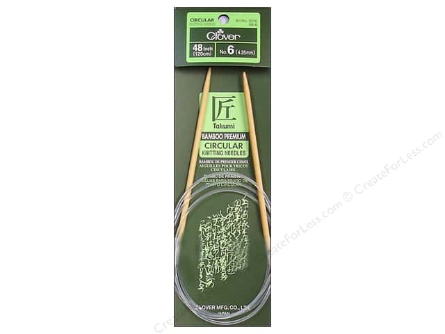 Clover Bamboo Circular Knitting Needles 48 in. Size 6 (4.25 mm)