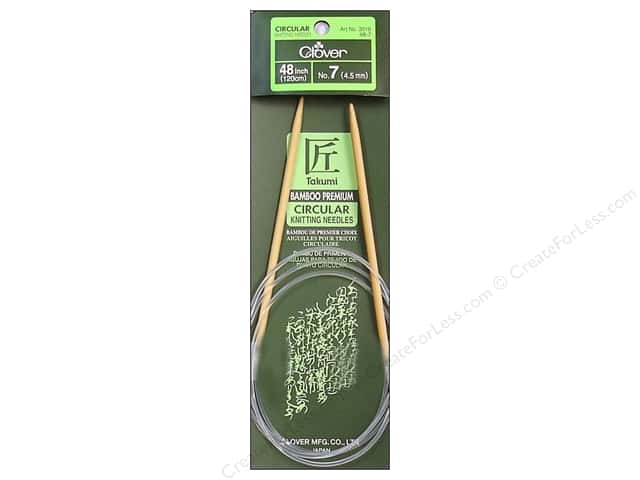 Clover Bamboo Circular Knitting Needles 48 in. Size 7 (4.5 mm)