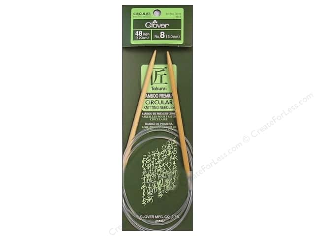 Clover Bamboo Circular Knitting Needles 48 in. Size 8 (5 mm)
