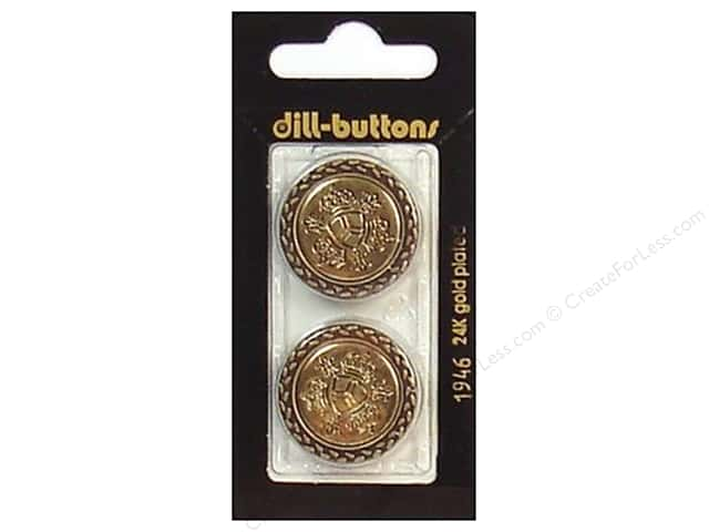 Dill Shank Buttons 1 in. Antique Gold #1946 2pc.
