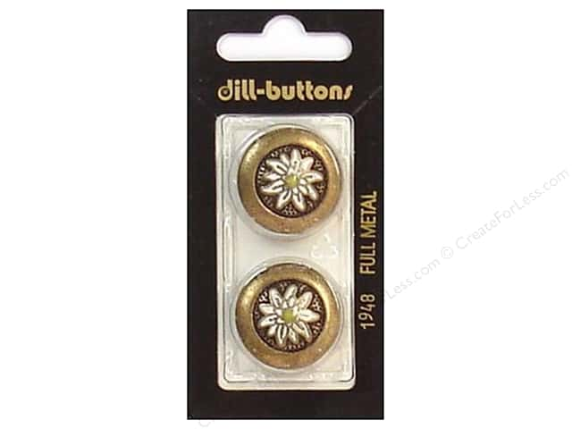 Dill Shank Buttons 7/8 in. Antique Gold #1948 2pc.