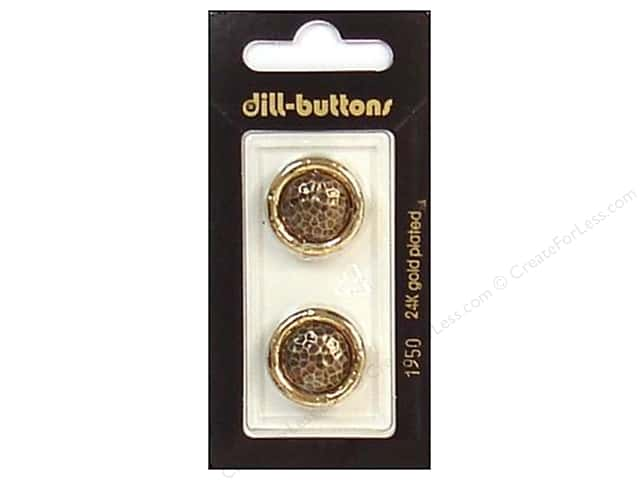 Dill Shank Buttons 13/16 in. Antique Gold #1950 2pc.