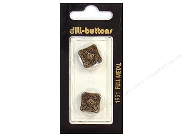 Dill Shank Buttons 11/16 in. Antique Brass Metal #1951 2pc.