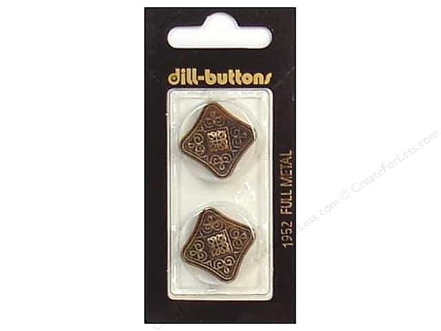Dill Shank Buttons 7/8 in. Antique Brass Metal #1952 2pc.