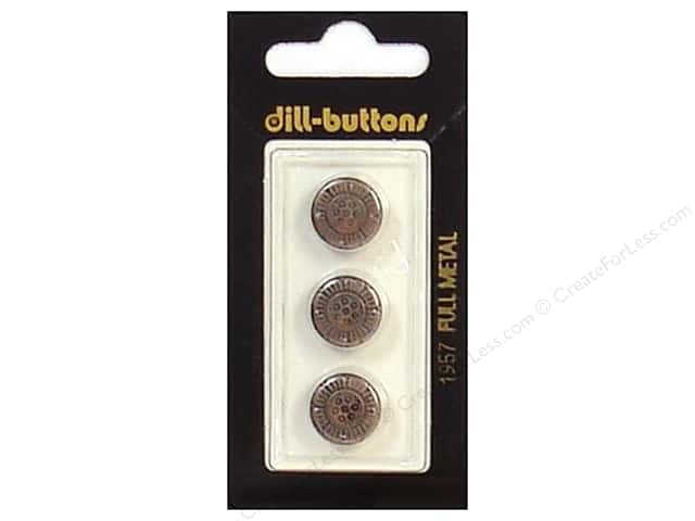 Dill Shank Buttons 1/2 in. Antique Copper Metal #1957 3 pc.