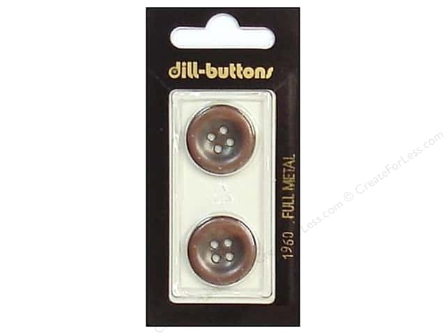 Dill 4 Hole Buttons 13/16 in. Antique Copper Metal #1960 2 pc.