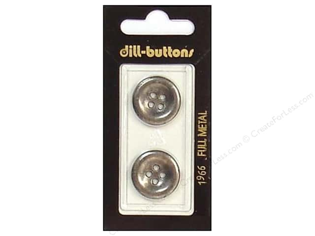 Dill 4 Hole Buttons 13/16 in. Antique Silver Metal #1966 2pc.
