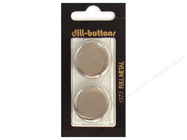 Dill Shank Buttons 1 in. Silver Metal #1979 2 pc.