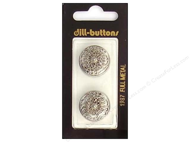 Dill Shank Buttons 13/16 in. Antique Silver Metal #1987 2pc.
