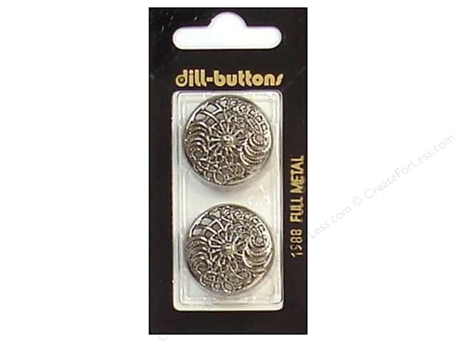 Dill Shank Buttons 1 in. Antique Silver Metal #1988 2pc.