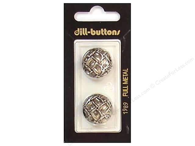 Dill Shank Buttons 13/16 in. Antique Silver Metal #1989 2pc.