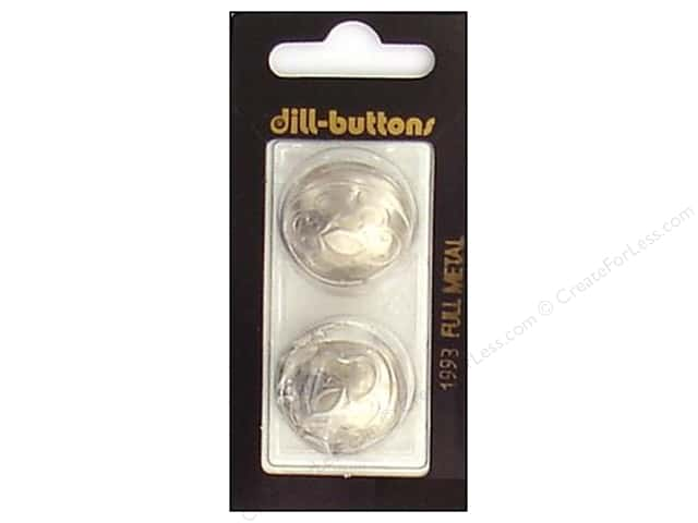 Dill Shank Buttons 1 in. Matte Silver Metal #1993 2pc.