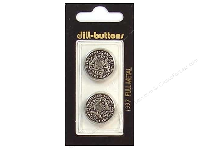 Dill Shank Buttons 13/16 in. Antique Silver Metal #1997 2pc.