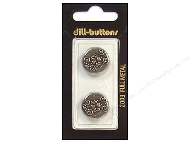 Dill Shank Buttons 11/16 in. Antique Tin Metal #2003 2pc.