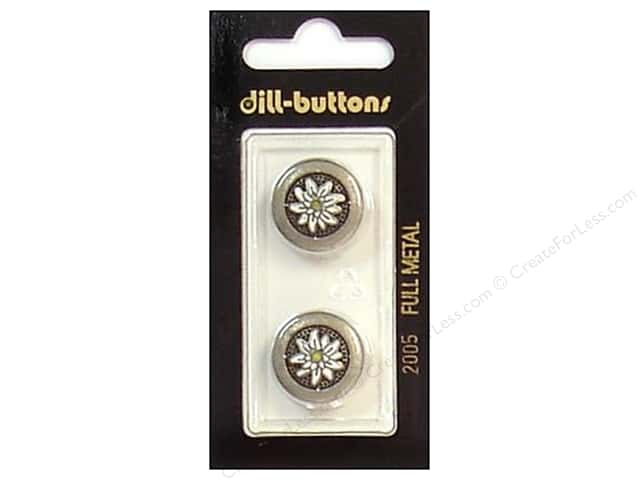 Dill Shank Buttons 11/16 in. Antique Tin Metal #2005 2 pc.