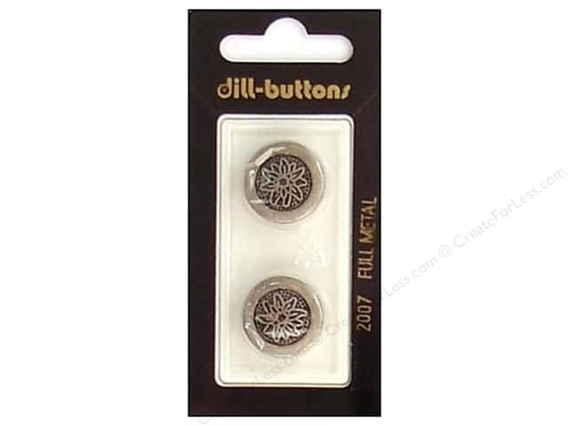 Dill Shank Buttons 11/16 in. Antique Tin Metal #2007 2pc.