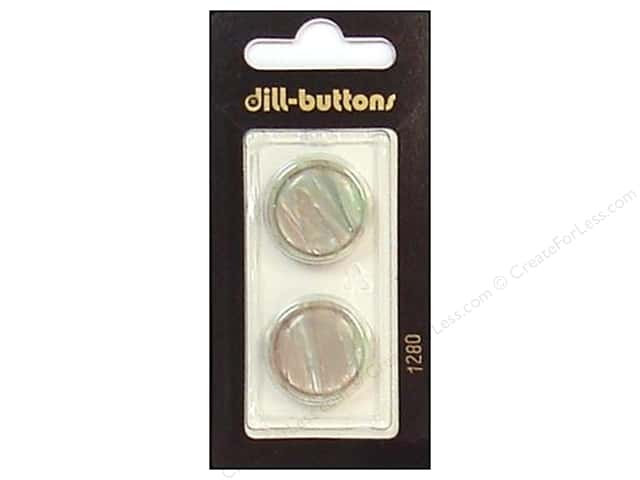 Dill Shank Buttons 13/16 in. Grey/Green #1280 2pc.