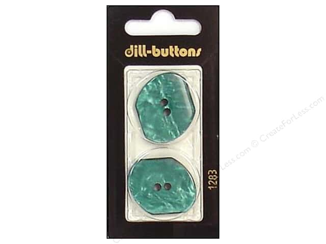 Dill 2 Hole Buttons 1 1/8 in. Teal #1283 2pc.