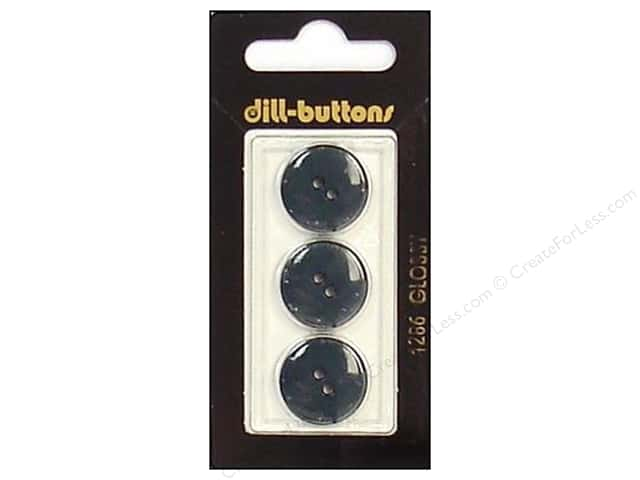 Dill 2 Hole Buttons 11/16 in. Dark Green #1286 3pc.