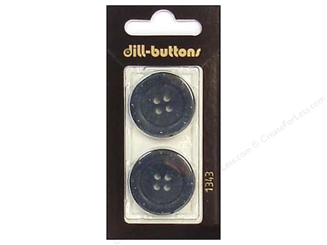 Dill 4 Hole Buttons 1 in. Navy #1343 2pc.