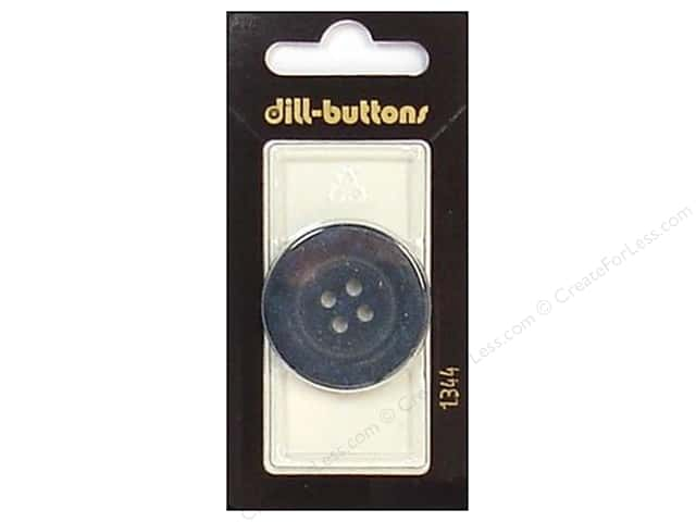 Dill 4 Hole Buttons 1 1/4 in. Navy #1344 1pc.