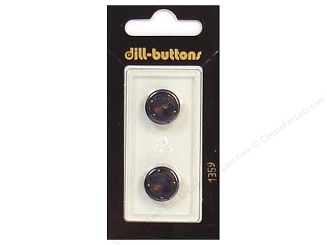 Dill Shank Buttons 9/16 in. Navy #1359 2pc.