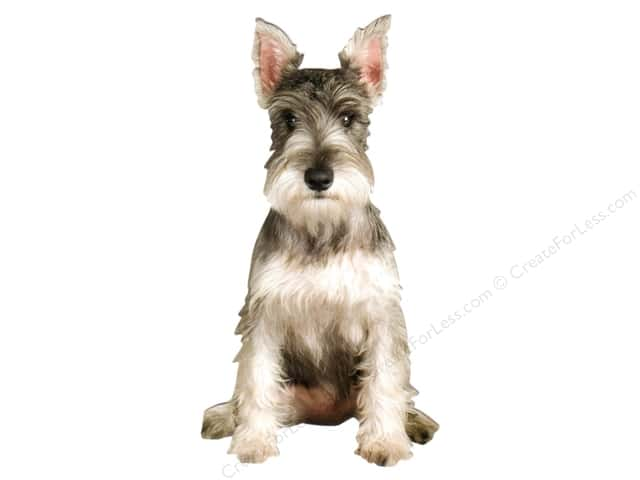 Paper House Die Cut Blank Card Miniature Schnauzer