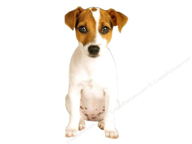 Paper House Die Cut Blank Card Jack Russell Puppy