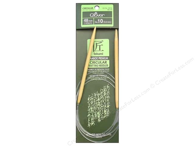 Clover Bamboo Circular Knitting Needles 48 in. Size 10 (6 mm)