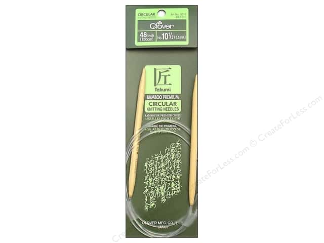 Clover Bamboo Circular Knitting Needles 48 in. Size 10.5 (6.5 mm)