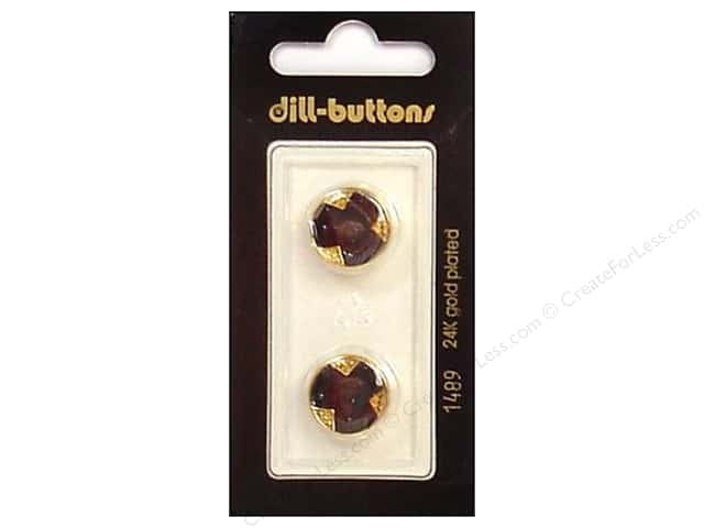 Dill Shank Buttons 5/8 in. Enamel Navy/Gold #1489 2pc.