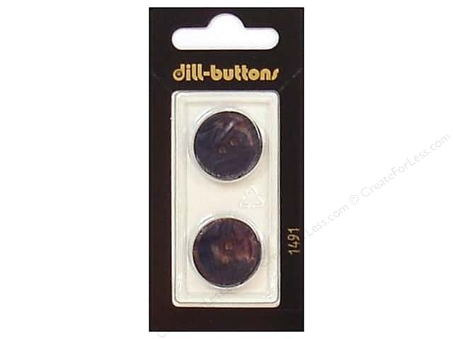 Dill 2 Hole Buttons 13/16 in. Navy #1491 2pc.