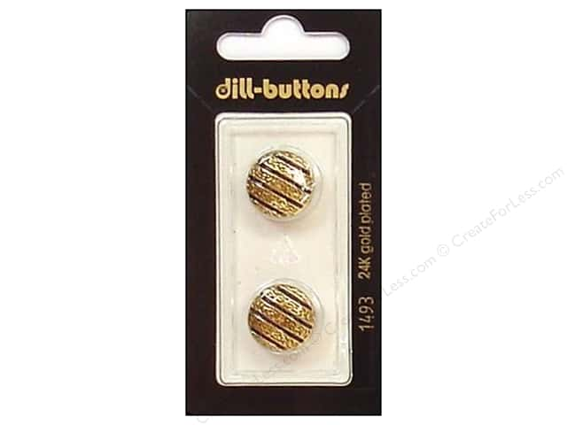 Dill Shank Buttons 5/8 in. Enamel Navy/Gold #1493 2pc.