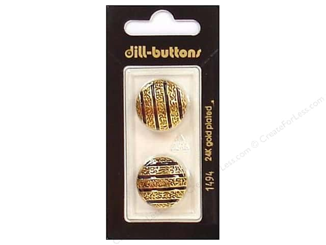 Dill Shank Buttons 13/16 in. Enamel Navy/Gold #1494 2pc.