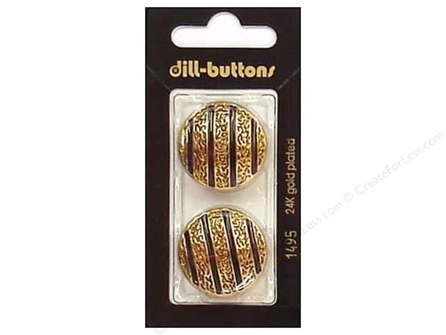 Dill Shank Buttons 1 in. Enamel Navy/Gold #1495 2pc.