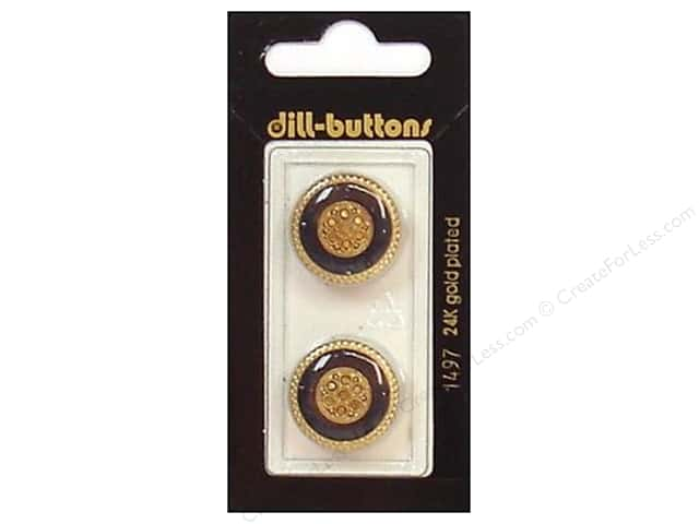 Dill Shank Buttons 13/16 in. Enamel Navy/Gold #1497 2pc.