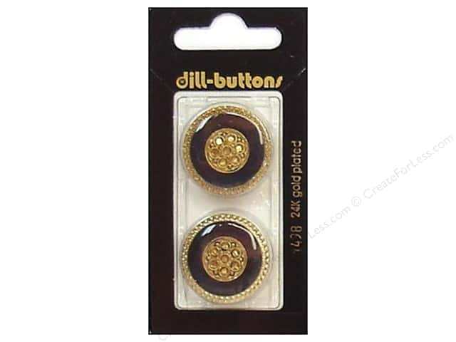 Dill Shank Buttons 1 in. Enamel Navy/Gold #1498 2pc.