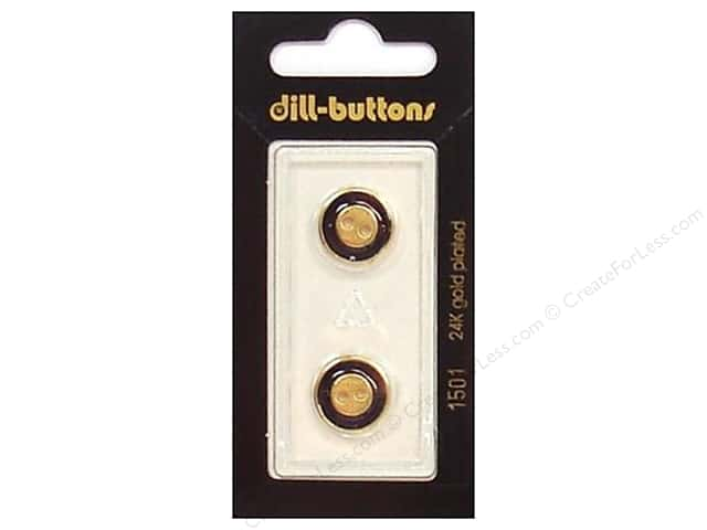 Dill 2 Hole Buttons 9/16 in. Enamel Navy/Gold #1501 2pc.