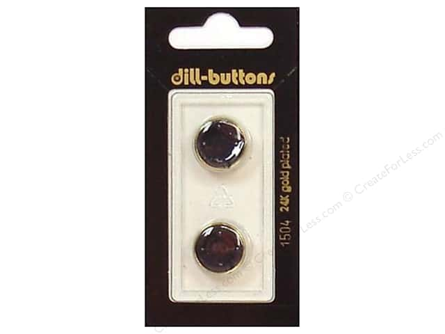 Dill Shank Buttons 5/8 in. Enamel Navy/Gold #1504 2pc.
