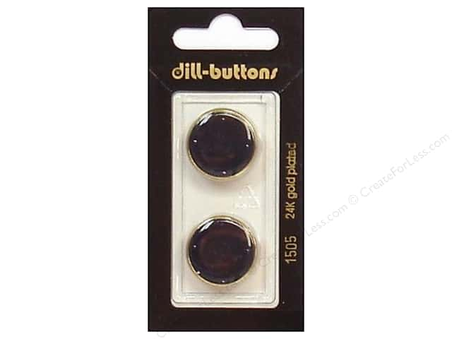 Dill Shank Buttons 13/16 in. Enamel Navy/Gold #1505 2pc.