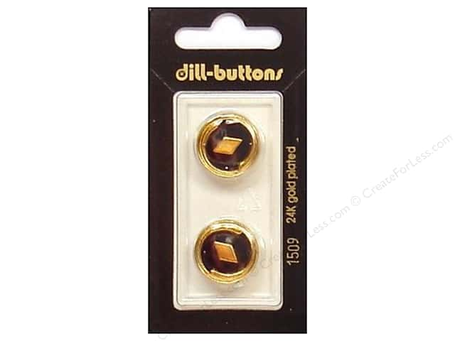 Dill Shank Buttons 11/16 in. Enamel Navy/Gold #1509 2pc.