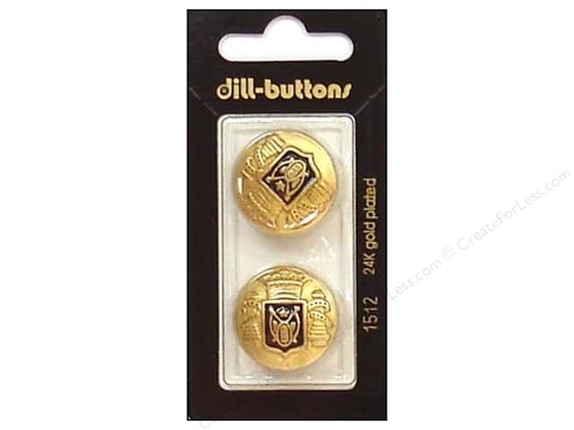 Dill Shank Buttons 7/8 in. Enamel Navy/Gold #1512 2pc.