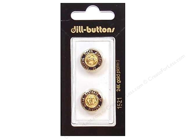 Dill Shank Buttons 5/8 in. Enamel Navy/Gold #1521 2pc.