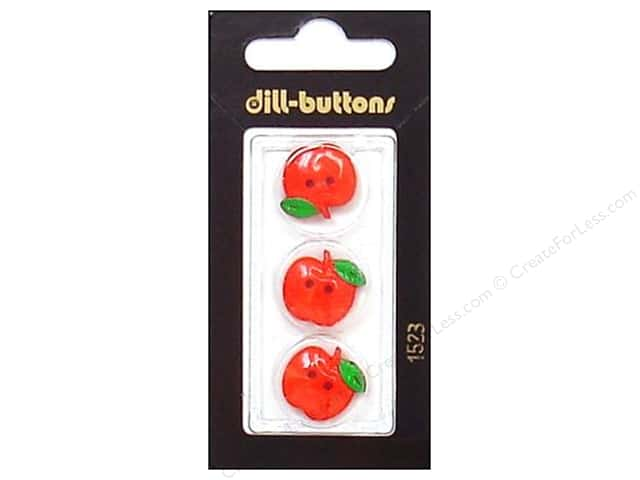 Dill 2 Hole Buttons 3/4 in. Red Apple #1523 3pc.