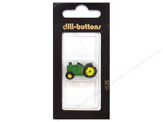 Dill Shank Buttons 1 in. Green Tractor #1525 1pc.