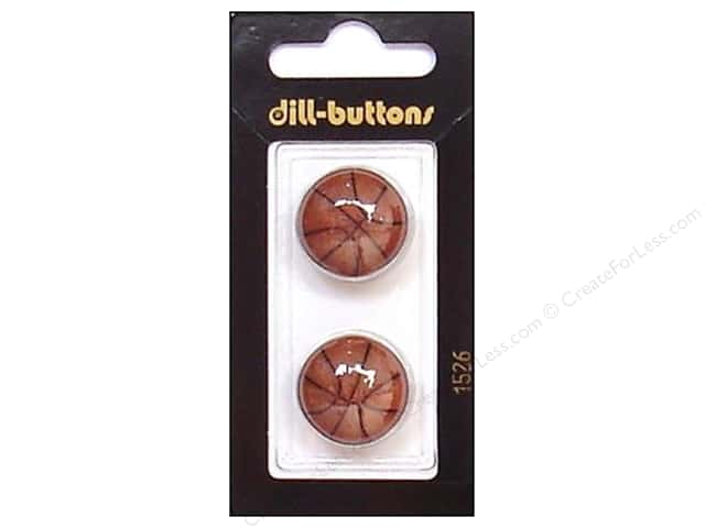 Dill Shank Buttons 13/16 in. Brown Basketball #1526 2pc.