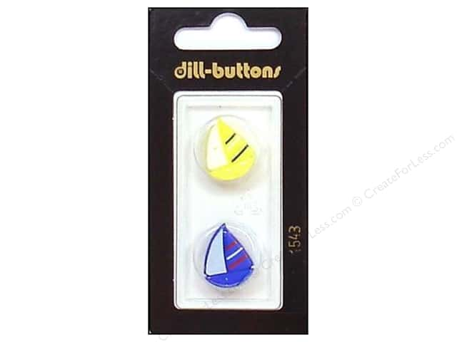 Dill Shank Buttons 11/16 in. Sailboats #1543 2pc.