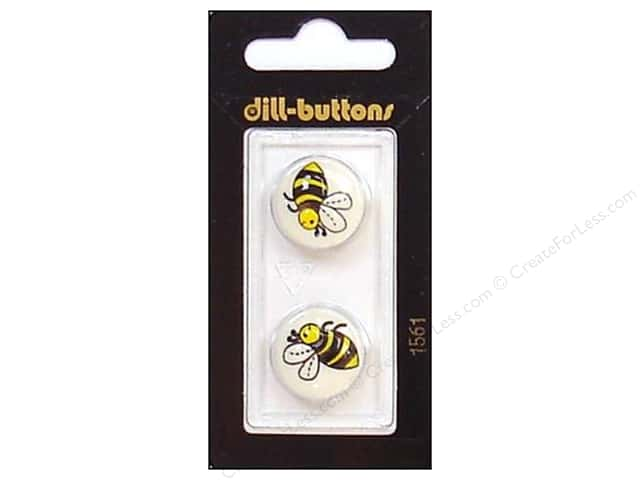 Dill Shank Buttons 11/16 in. Bee #1561 2pc.