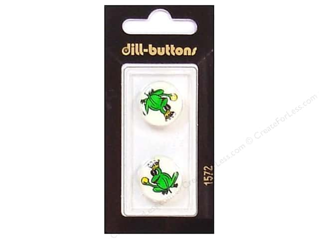 Dill Shank Buttons 11/16 in. Green Frog Prince #1572 2pc.