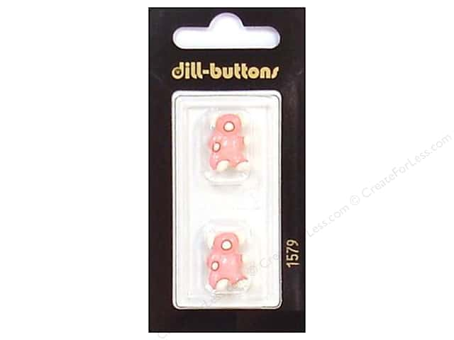 Dill Shank Buttons 11/16 in. Pink/White Bear #1579 2pc.